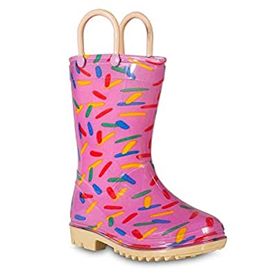 Lilly of New York Children's Rain Boots for Little Kids & Toddlers, Boys & Girls Pink Size: 9 Toddler