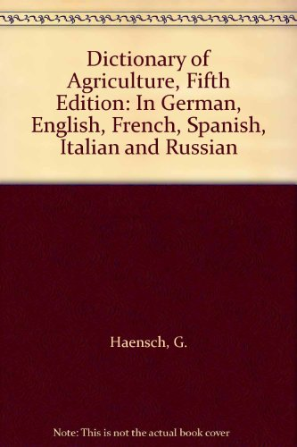 Descargar Libro Dictionary Of Agriculture Gunther Haensch