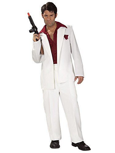 Rubie's Scarface Tony Montana Costume, White, One Size