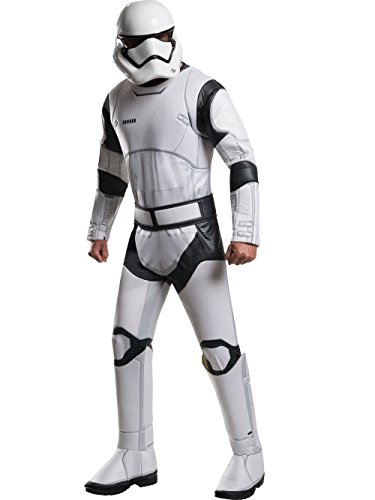 Star Wars The Force Awakens Deluxe Adult Stormtrooper Costume, Multi, (Mens Masquerade Costumes Ideas)