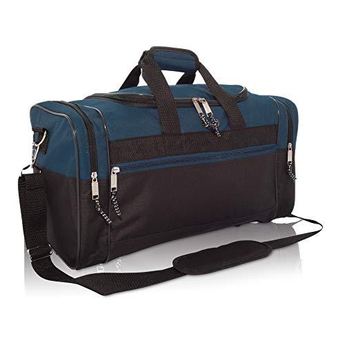 Medium Duffle Bag Duffel Bag in Black and Navy Blue Gym Bag ()
