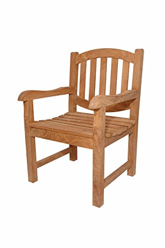 Anderson Teak Kingston Dining Armchair, Linen Straw