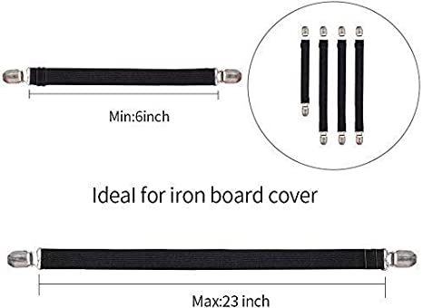 Adjustable Ironing Board Pad Braces Fasteners Mini Suspenders Goodtimes Ironing Board Cover Clips Keep Cover Flat and Secure Tention Clips
