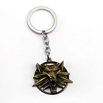 The Witcher 3 Keychain Wild Hunt Forma de Lobo Llavero ...