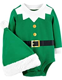 Baby 2-Piece Santa Bodysuit and Hat Set