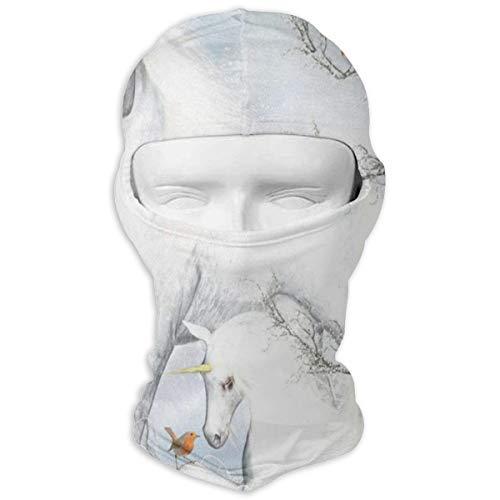 (Balaclava Fantasy Unicorn Winter Holiday Full Face Masks UV Protection Ski Cap Womens Headcover for Mountaineering)