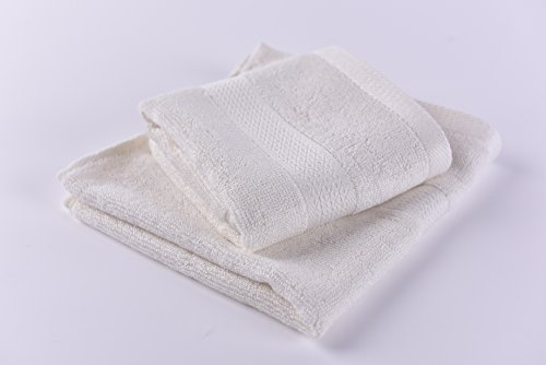 100% Bamboo Washcloths. Luxurious Set of 2 Easy to Clean with Organic and Soft By Right Purpose. Anti Bacterial and Durable. (White)