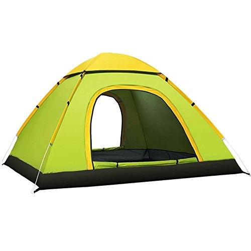 hwkaiz自動インスタントテントアウトドア3 – 4人、防水バックパッキングテント、2ドアポータブルCabana Beachテントキャンプハイキング旅行  グリーン B07CBWJLYN