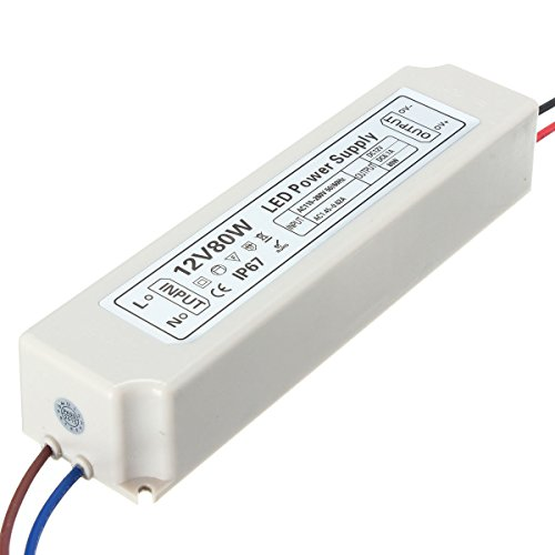 - IP67 80W AC100-264V To DC12V Switching Power Supply Driver Adapter - CCTV Security Accessories CCTV Power Supply Switch & Adaptor- 1 x IP67 Switching Power Supply