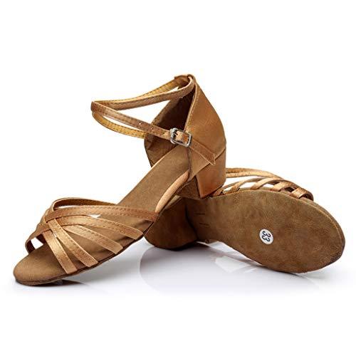 - Leisuraly 2019 Lady's Ballroom Dance Shoes for Chacha Latin Salsa Rumba Practice Khaki