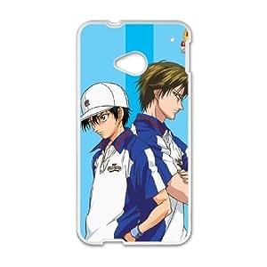 El príncipe del tenis 01 a la Mejor funda HTC uno M7 caja del teléfono celular Funda cubierta blanca