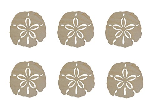 - Sand Dollar Shape Unfinished Wood Cut Outs 2.5