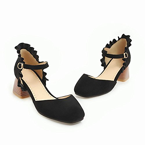 Heel Buckle Nero Mee Donna Sweet Court Block Shoes za8ZIWpq