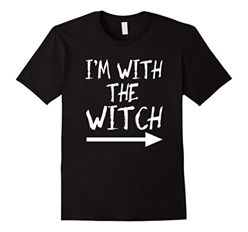 [Mens I'm With The Wicth tshirt Halloween Couples Costume funny XL Black] (Funny Halloween Couple Costumes)