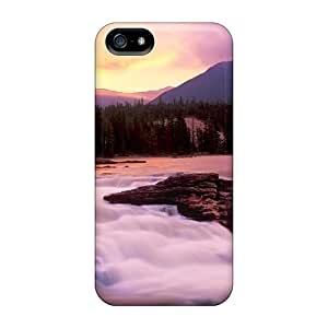 Tpu Shockproof/dirt-proof Free Waterfalls Mountain Waterfall Cover Case For Iphone(5/5s)