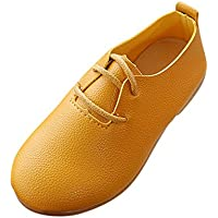 1-12 Years Old Child Girls Solid Leather Loafers Flats Princess Single Party Wedding Oxfords Shoes