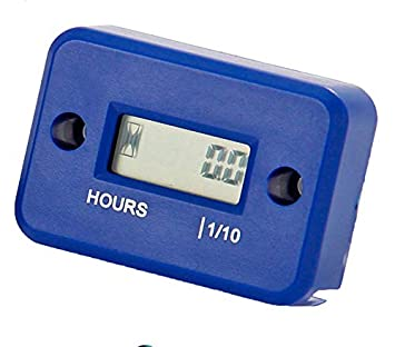 Nine Rong Inductive Hour Meter or Lawn Mower, Marine Engines,Inboards and  Outbard Pumps (Blue)