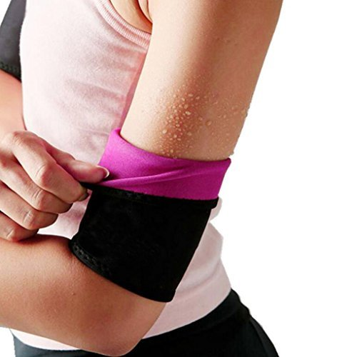 Arm Trimmers Wraps for Slimmer Arms-Lose Fat & Reduce Cellulite-Heat Maximizing Neoprene Armbands (Pair) for Women and Men,BLACK