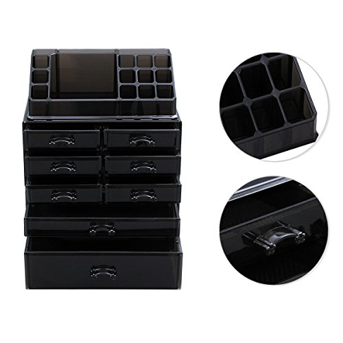 Makeup organizer cosmetic storage display boxes jewelry chest 3
