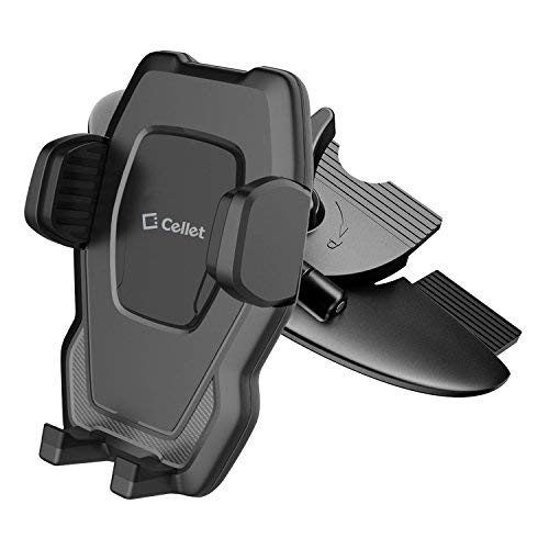 (Cellet CD Slot Phone Holder, Cradle Mount with One-Touch Design Compatible for Apple iPhone Xr,Xs Max,Xs,X,SE,8 Plus,8,7 Plus,7,6S Plus,6S,6 Plus,6,5S,5C,5,4S,4,3GS,3G,iPod Touch,iPod Nano and More)
