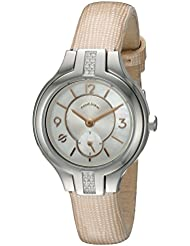 Philip Stein Womens Sport diamond bezel with mother of pearl dial and Rose Gold accents on Rose Gold star woven...