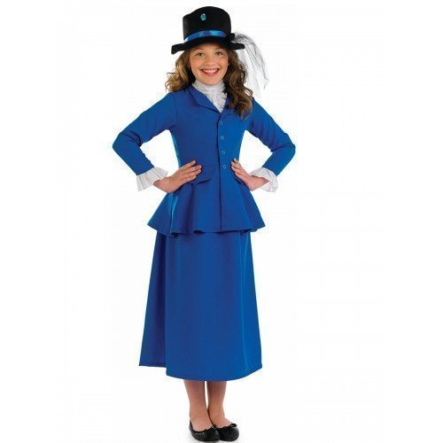 Mary Poppins Little Girl Costume (Fancy Me Little Girls' Mary Poppin Rich Victorian Book Week Day Fancy Dres Costume 4-6 Years Blue)
