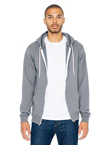 American Apparel  Unisex Flex Fleece Zip Hoodie, Asphalt, X-Large