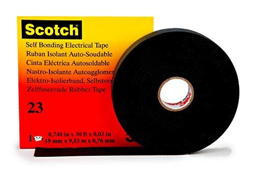 (Self fusing reparature Band (L x W) 9.15 m x 19 mm Black Ethylene-Propylene Rubber 3M Scotch 233M)