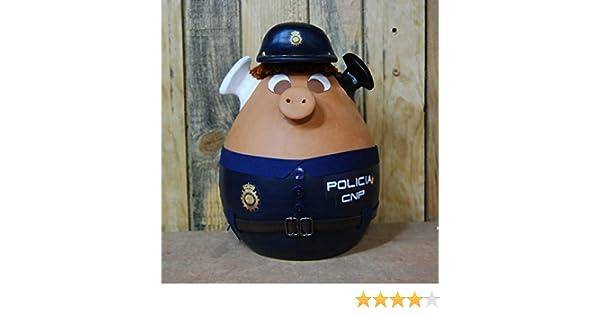 Cerdito hucha disfrazado de policia nacional: Amazon.es: Handmade