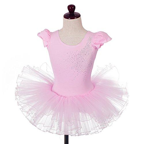 Dressy Daisy Girls' Rhinestones Ballet Tutu Dancewear Dance Leotard Fairy Costume Size 6-7 (Daisy Ballet Tutu)