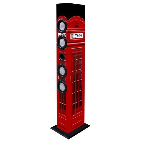 New Majestic TS-84 30W Negro, Rojo Altavoz - Altavoces (1.0 Canales, Inalámbrico y alámbrico, 3.5mm/Bluetooth, 30 W, 30-20000 Hz, Negro, Rojo)