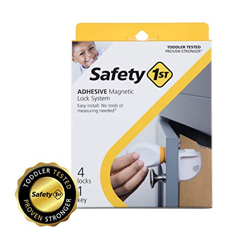 Safety 1st Adhesive Magnetic Lock System with 4 Locks and 1 Key