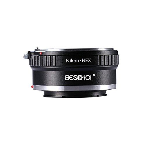 Beschoi Lens Mount Adapter for Nikon Nikkor F Mount D/SLR Lens to Sony NEX E-Mount Camera Body