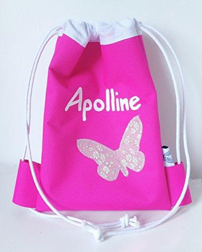 Tasche wasserdicht Mini dea-concept Pink Schmetterling Liberty Capel Rosa und Familienname