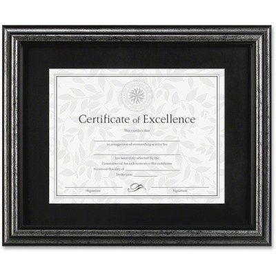 DAX N15790ST Document Frame, Desk/Wall, Wood, 11 x 14, Antique Charcoal Brushed Finish by DAX (Image #1)