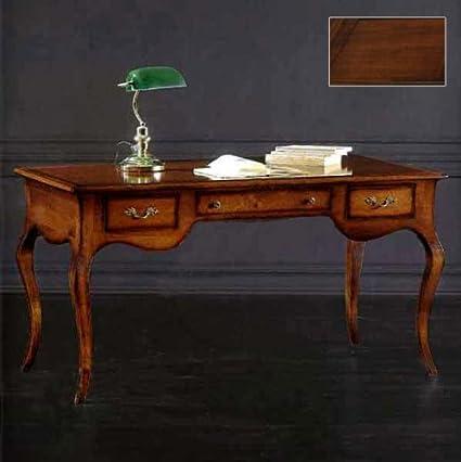 Scrivanie Scrittoi Classici Di Lusso Legno.Scrivania Noce Tanganica Cm 150 X 75 H 80 Amazon It Casa E Cucina