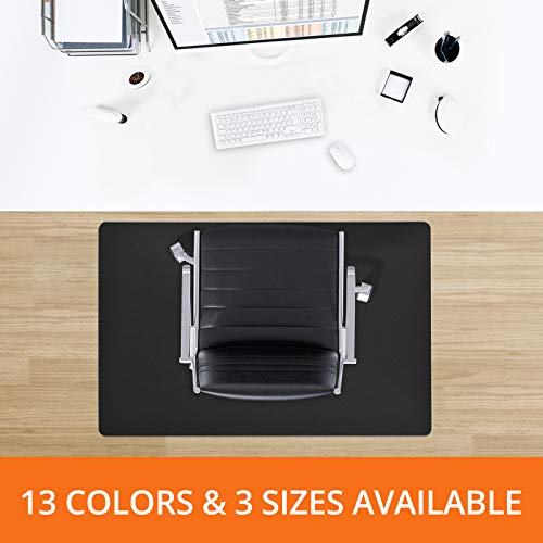 Desk Chair Mat for Hardwood Floor - Premium Colorful Hardwood Floor Protectors | One Office Chair Mat for Hardwood - Black - 48