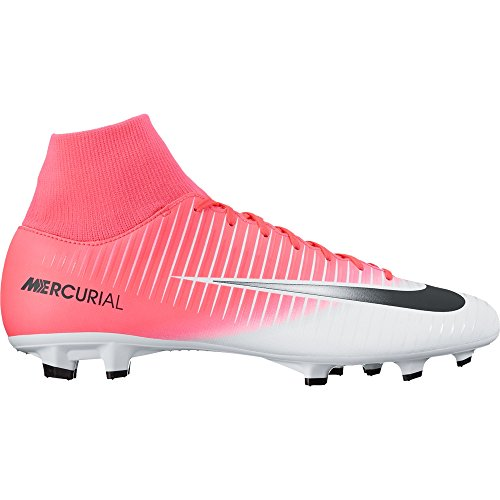 NIKE New Men's Mercurial Victory VI DF FG Soccer Cleat Pink/Black/White 13