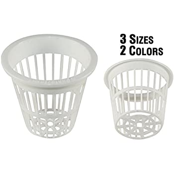 NP2BW: 2 Inch White Slotted Mesh Net Pot for Hydroponics/Aquaponics/Orchids - 100 Pack