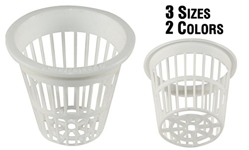 NP2CW: 2 Inch White Slotted Mesh Net Pot for Hydroponics/Aquaponics/Orchids - 600 Carton