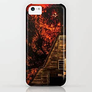 Society6 - Red Sunset In Rural California iPhone & iPod Case by Va103
