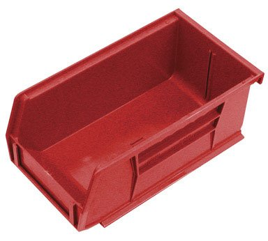 Quantum Storage Systems Hang/Stack Bin, 7-3/8L X 4-1/8W, Red by Quantum Storage Systems
