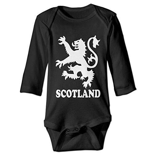 Wave VV Baby Boys Lion Rampant Scotland Scottish Long Sleeve Climbing Clothes Playsuit 100% Cotton, Suit 6-24 Months Black