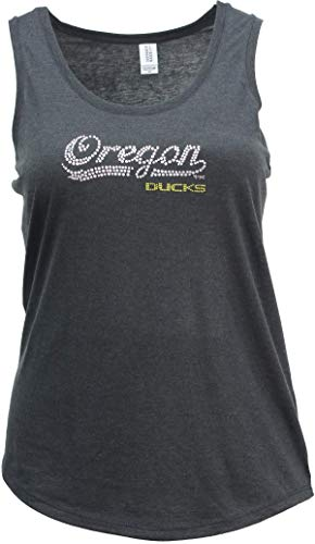 Nitro USA NCAA Oregon Ducks Womens Super Soft Women's Collegiate Bling Racerback Tank, Black, Large ()