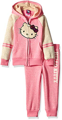 - Hello Kitty Toddler Girls 2 Piece Hooded Fleece Active Set, Pink, 3T