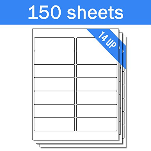 OfficeSmartLabels Rectangular 4 x 1-1/3 Address / Mailing Labels for Laser & Inkjet Printers, 4 x 1.33 Inch, 14 per sheet, White, 2100 Labels , 150 Sheets