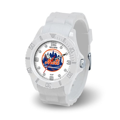 MLB New York Mets Women's Cloud Watch Mets Rubber Bracelets
