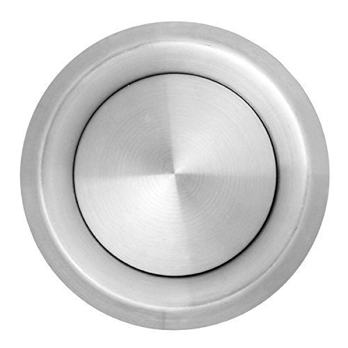 (Spares2go Stainless Steel Round Ceiling Extractor Exhaust / Supply Wall Vent (100mm, 4