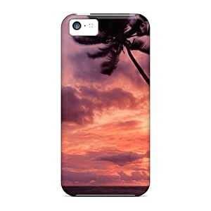Protection Case For Iphone 5c / Case Cover For Iphone(purple Clouds)