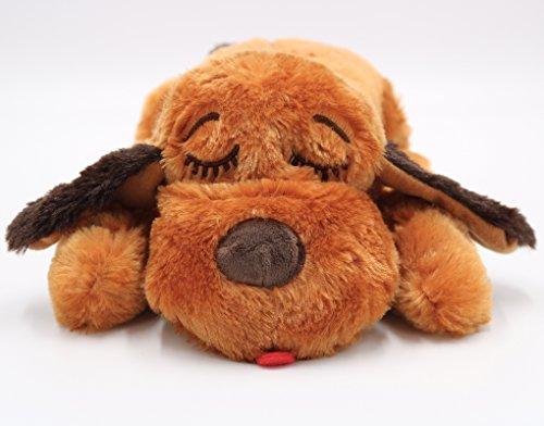 Juguete de ayuda conductual SmartPetLove Snuggle Puppy, Brown Mutt